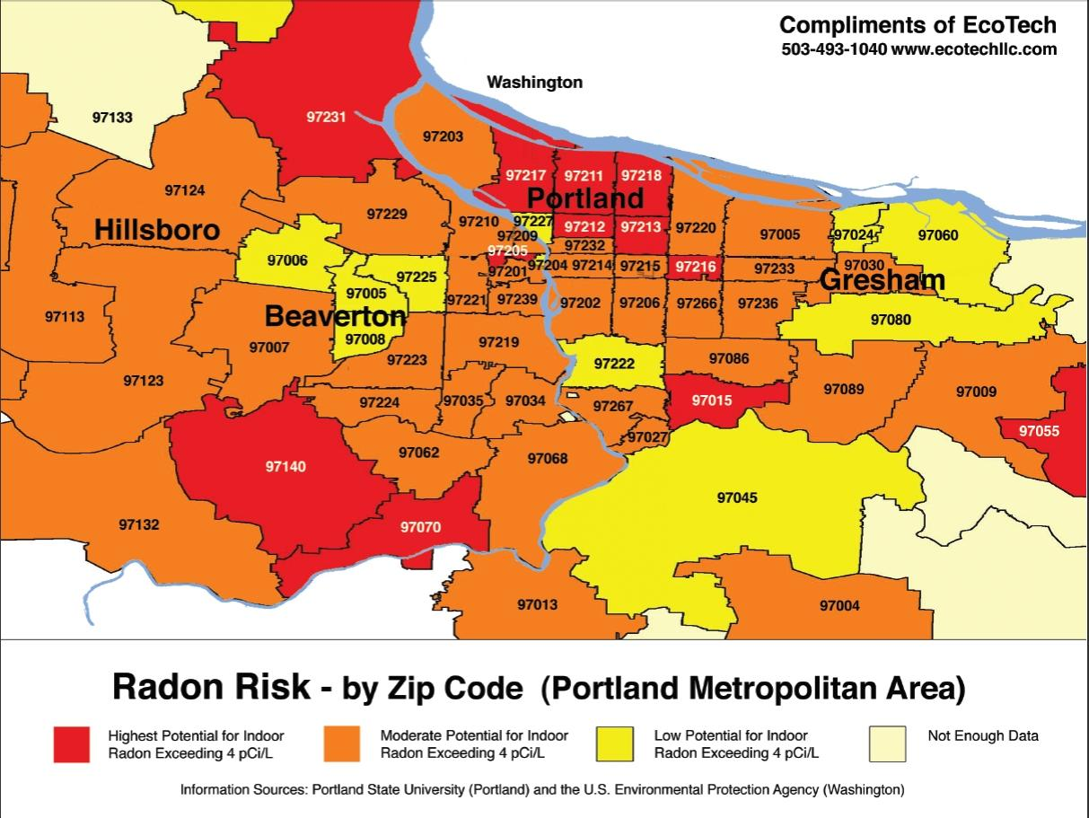 Portland Zip Code Map Zip Code Map Portland Oregon Usa