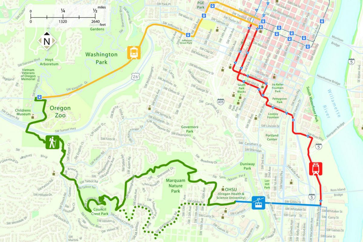 map of marquam trail