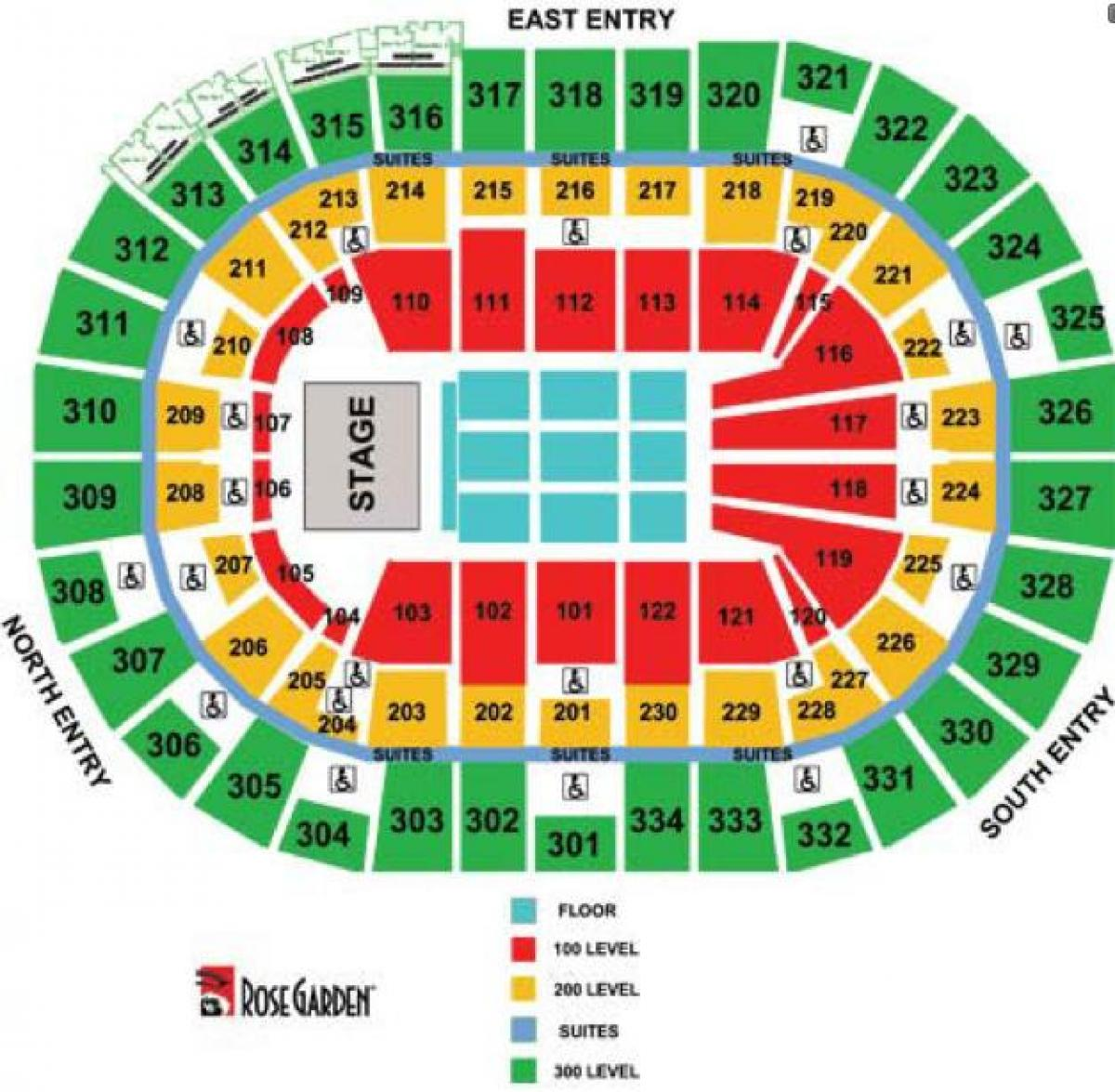 Moda Center Concert Seating Map