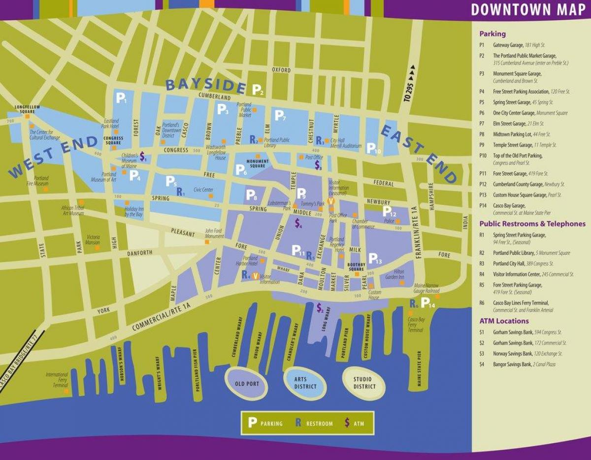 port of Portland map