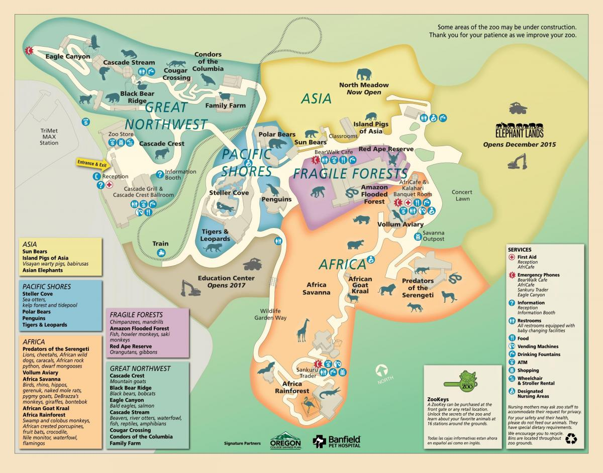 map of Oregon Zoo