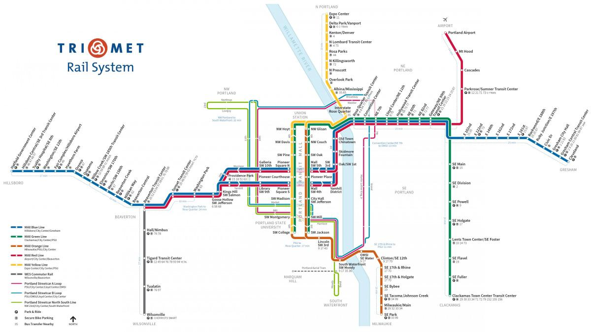 San Jose Subway Map.Portland Metro Map Portland Subway Map Oregon Usa