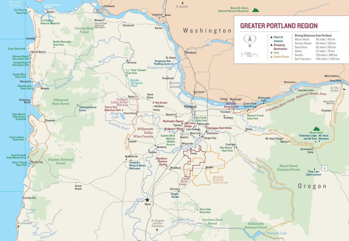 map Portland Oregon