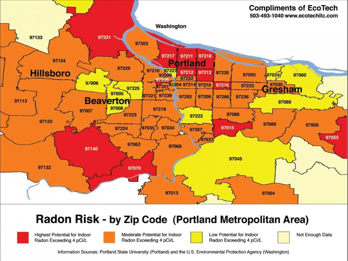 Portland Oregon zip code map