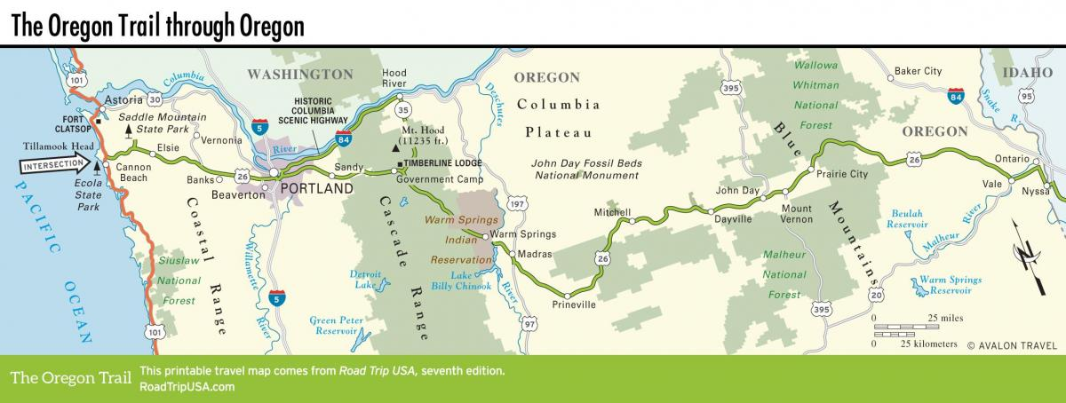 map of Portland trails