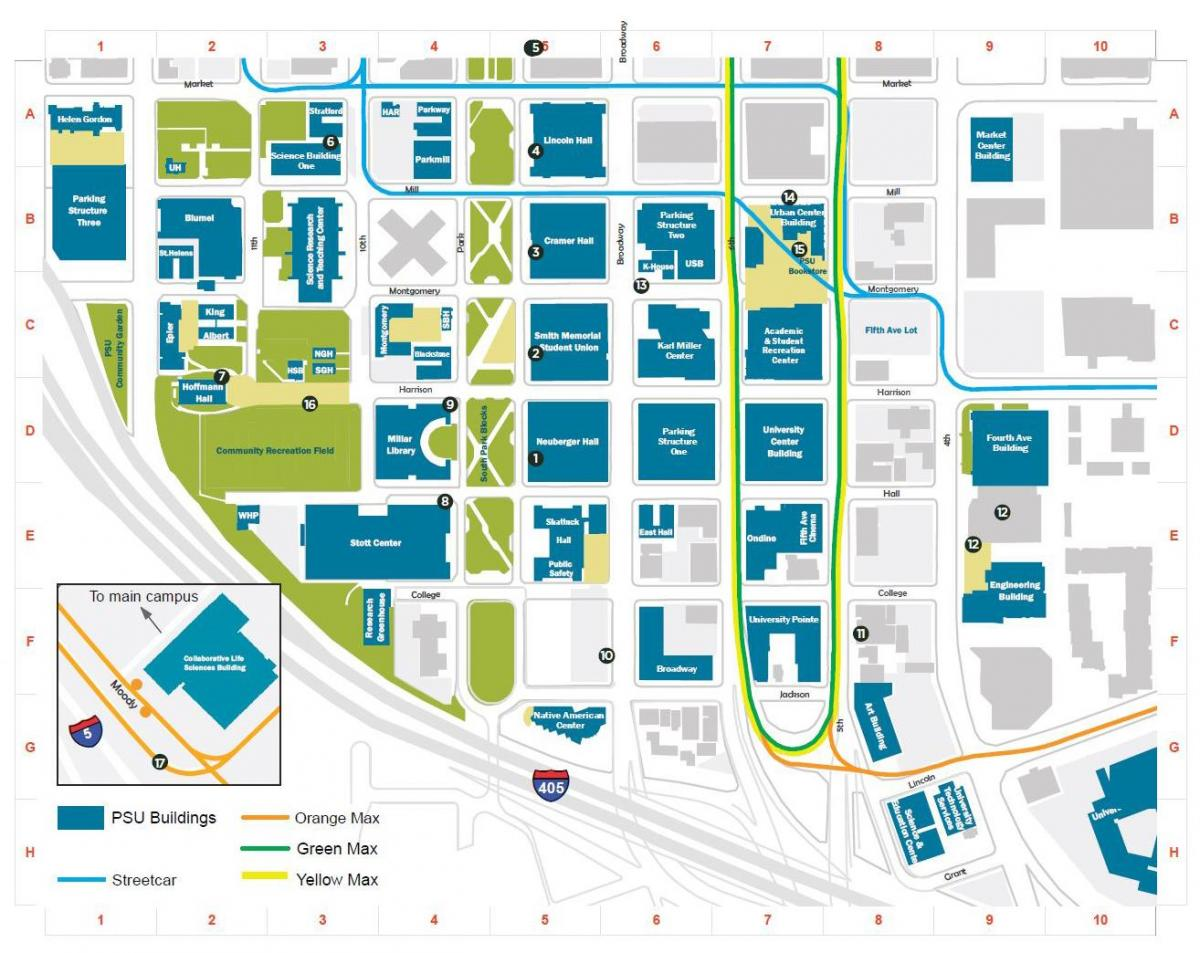 map of PSU building