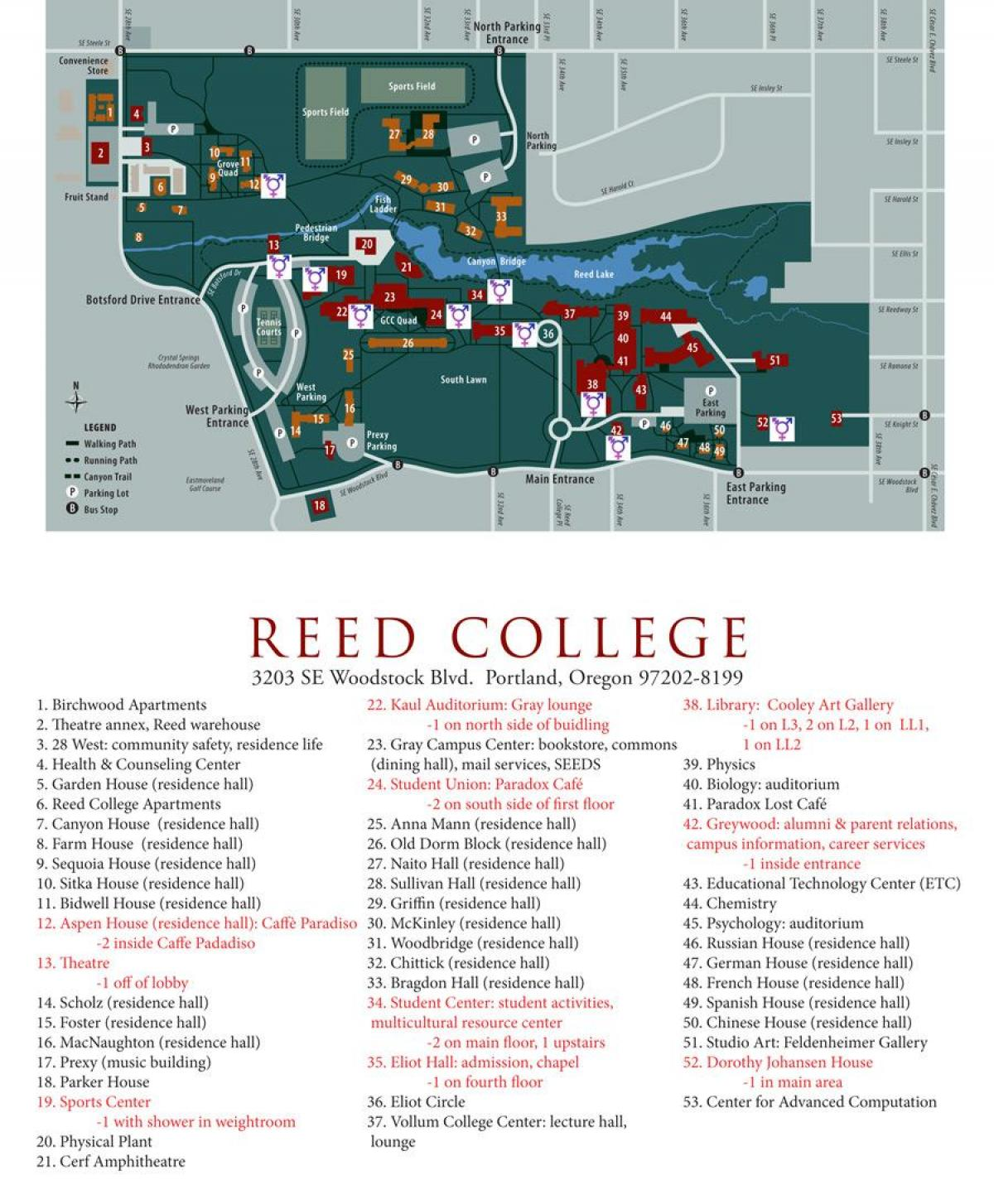 map of reed College
