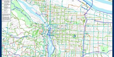 Map of Portland bike