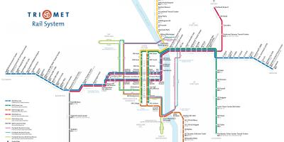 Portland Max light rail map