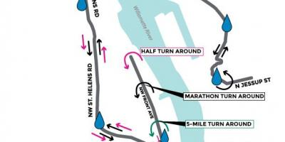 Map of Portland marathon