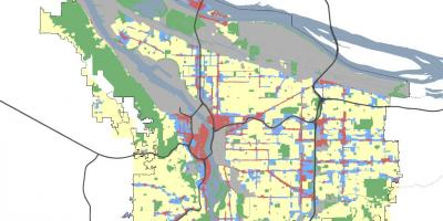 Portland Oregon zoning map