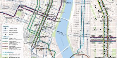 Portland Oregon public transportation map