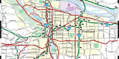 Speed map Portland