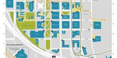 PDX Campus map