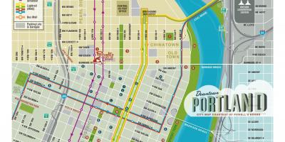 Portland sightseeing map