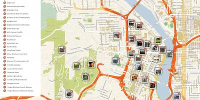 Portland walking map